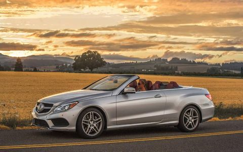 The 2014 Mercedes-Benz E550 Cabriolet cranks out a powerful 402 hp with 443 lb-ft of torque.