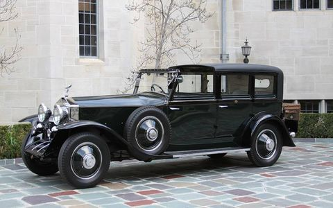 Fred Astaire's 1927 Rolls-Royce Phantom I Town Car will be there. Astaire will not.