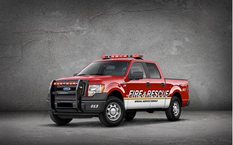The Ford F-150 SSV will be marketed primarily to law enforcement and fire departments