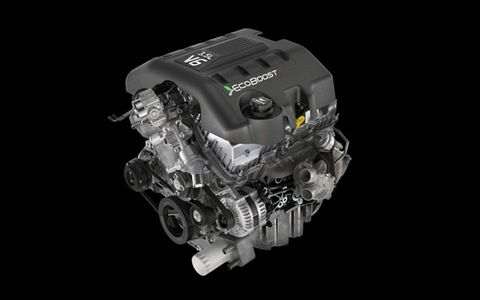 The 3.5 liter EcoBoost V6 produces 365 horsepower and 420 lb-ft of torque.