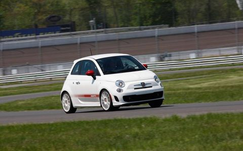 The Abarth goes from 0 to 60 mph in 7.5 seconds, handling is outstanding when up against the standard 500, and the dual exhaust creates a loud, sporty sound.