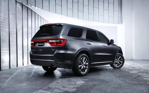 The 2014 Dodge Durango R/T is equipped with a 5.7-liter V8 under the hood.
