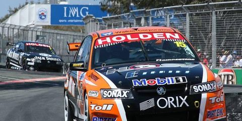 Rick Kelly, Todd's brother, in his Holden no. 15 that won one of the three races.
