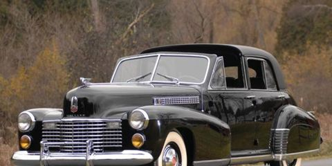 The 1941 Derham-bodied Cadillac Series Sixty Special Town Car once owned by movie actress Bette Davis brought in $198,000.