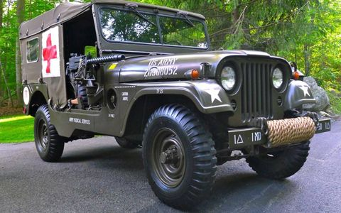 This 1955 Willys M170 Frontline Ambulance Jeep is for sale on eBay for $35,000.
