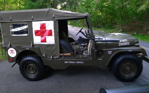The 1955 Willys M170 features space for three stretchers.