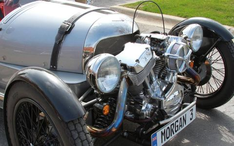 The Morgan Three-Wheeler is street legal and is classified as a motorcycle.