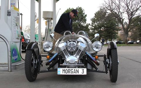 The Morgan Three-Wheeler is amazing to look at let alone drive.