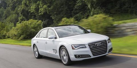 Our 2014 Audi A8 L TDI tester received the optional Bang & Olufsen advance sound system.