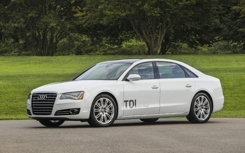 While in our test fleet the 2014 Audi A8 L TDI received an EPA-estimated 23.6 mpg.