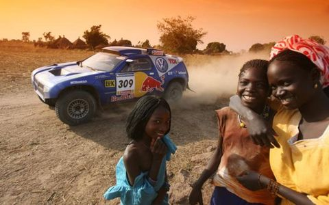 Volkswagen's Race Touareg 2 brought smiles to many faces during the Dakar Rally, on its way to a podium finish–the first for a diesel-powered vehicle in the event's history.