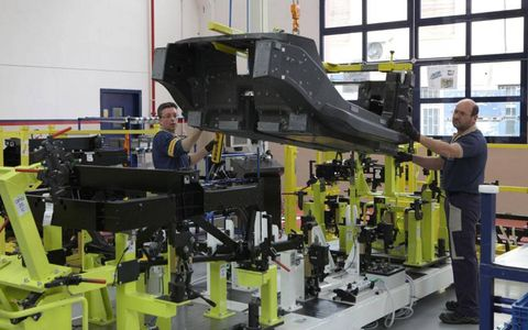 Production of the Alfa Romeo 4C is taking place at the Modena Maserati factory.