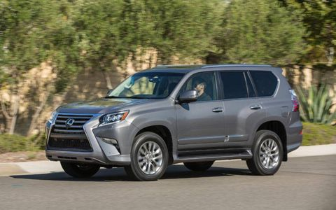 The 2014 Lexus GX 460 Luxury receives an EPA-estimated 17 mpg combined fuel economy.