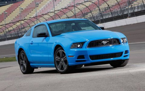 The 3.31 limited-slip rear differential helped with the Mustang's 5.75-second 0-to-60-mph time; the Genesis' best was 5.93.