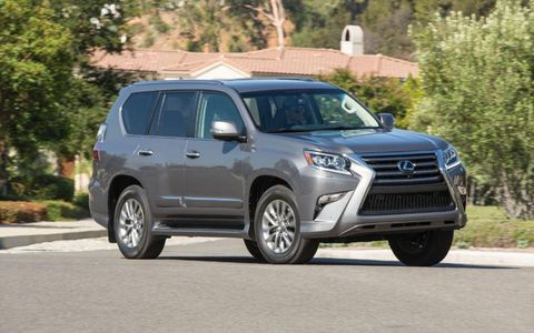 The 2014 Lexus GX 460 Luxury is equipped with a 4.6-liter V8.