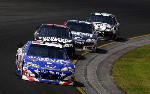 2012 NASCAR Pocono: Jeff Burton, Regan Smith, Kasey Kahne, Jimmie Johnson.