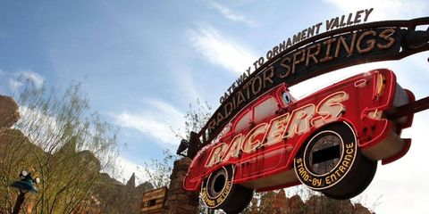 The fastest and most rollercoaster-like ride is Radiator Springs Racers