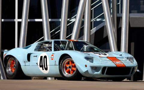 Originally built as a lightweight Mirage prototype racer, chassis No. P/1047 was rebuilt as a GT40 in 1968