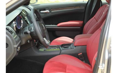The black-and-red interior looked a little goofy, but was quite comfortable and made with nice stuff.