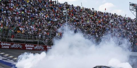 Jimmie Johnson burns out after big win.