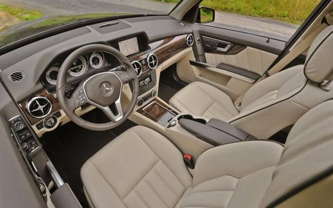 The cockpit of the 2013 Mercedes-Benz GLK.