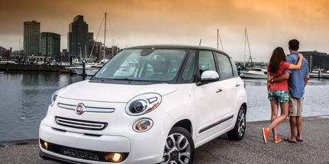 The 2014 Fiat 500L has a 160-hp, 184 lb-ft four cylinder.