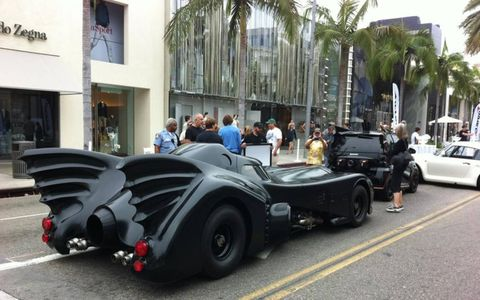 You want tailfins? Jeff Dunham's Batmobile from Batman Returns has some tailfins, as does the Barris Batsmart. Bruce Canepa's 959 took a different approach to aerodynamics.