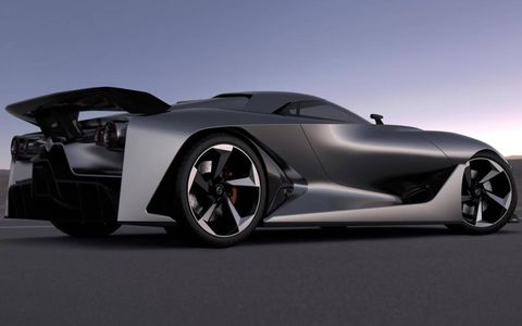 Nissan suggests its Vision Gran Turismo concept could preview future super car styling.
