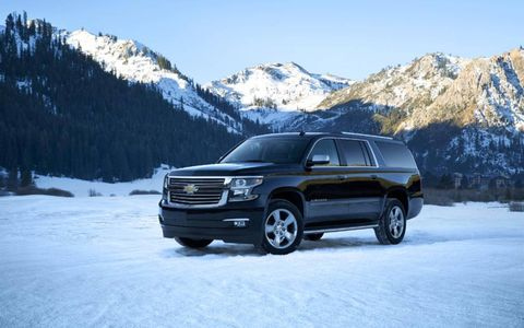 The 2015 Chevrolet Suburban LTZ is equipped with a 5.3-liter V8 that pushes out 355 hp and 383 lb-ft of torque.