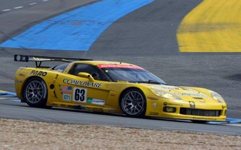 The No. 63 Corvette that finished second in GT1.