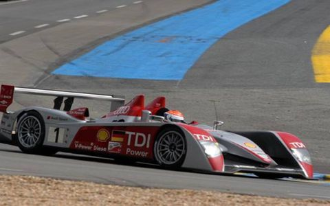 The No. 1 Audi R10 that won the 75th 24 Hours of Le Mans.