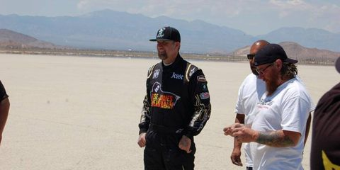 Jesse James, before the dust storm inside the car.