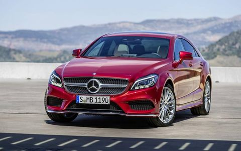 The 2015 Mercedes Benz CLS receives a mildly reworked front fascia.