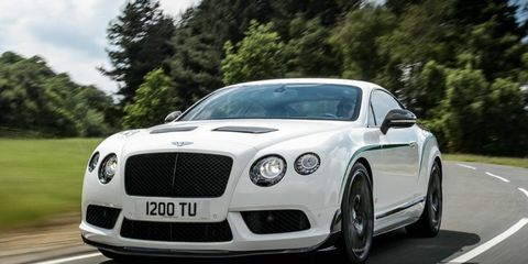 The Bentley Continental GT3-R gets a 4.0-liter twin-turbocharged V8.