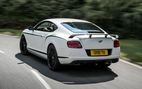 The Bentley Continental GT3-R delivers 572 hp and 516 lb-ft of torque.