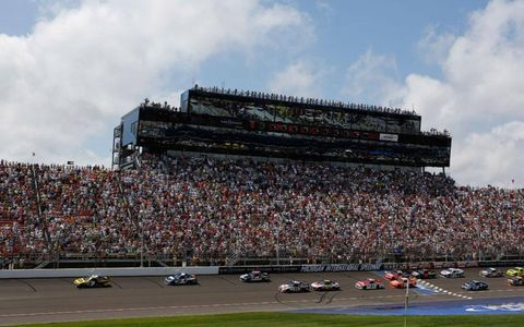 The start of the Quicken Loans 400 at Michigan International Speedway on Sunday.