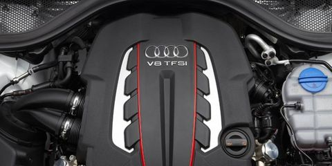 The 2013 Audi S7 is equipped with a 4.0-liter turbocharged V8.