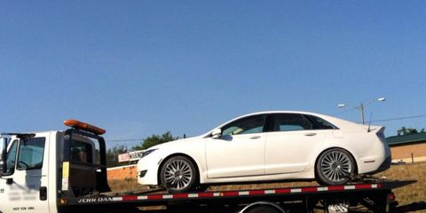 This 2013 Lincoln MKZ was spotted in the Metro Detroit area