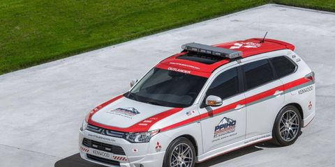 Mitsubishi is the official safety car of Pikes Peak.