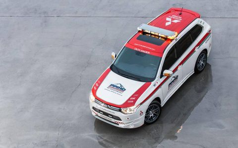 Mitsubishi is taking two vehicles to race up the mountain.