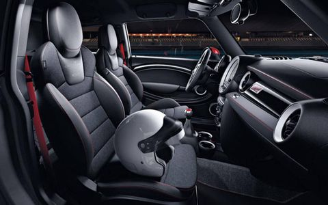 The GP's interior features race inspired Recaro seats with Alcantara inserts, along with other neat details