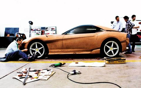 Ferrari's Flavio Manzoni used full-size clay models to shape the look of the F12 Berlinetta.