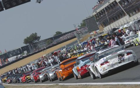 Pre-race lineup