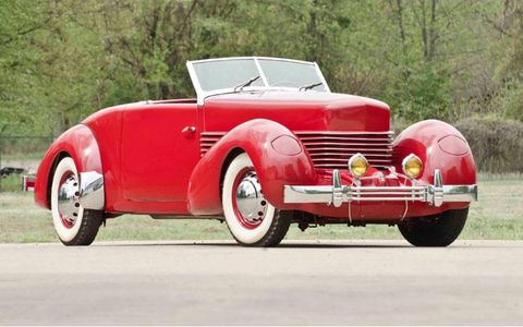Bidding on this 1936 Cord 810 Sportsman convertible coupe stopped at $135,000