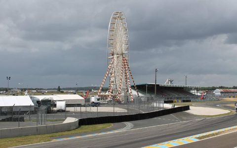 The calm before the storm on Friday at the 24 Hours of Le Mans.