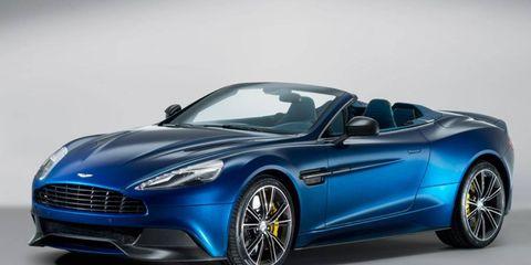 Aston Martin has unveiled the 2014 Vanquish Volante convertible.