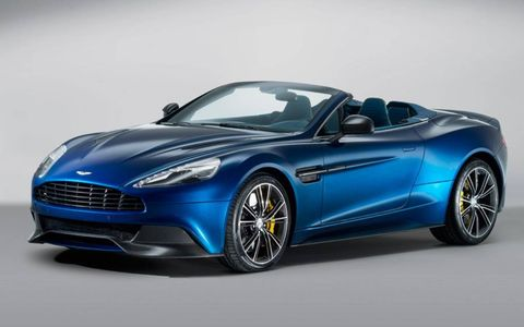 Aston Martin has unveiled the 2014 Vanquish Volante convertible.