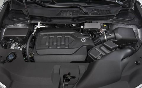 The 2014 Acura MDX is equipped with a 3.5-liter V6.