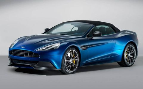 The 2014 Aston Martin Vanquish Volante is the first Volante to feature an all-carbon-fiber body.