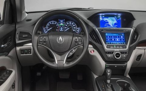 The touch-screen interface in the 2014 Acura MDX just feels clunky.